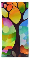 Dreaming Tree Hand Towel by Sally Trace