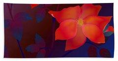 Dreaming Wild Roses Bath Towel by Latha Gokuldas Panicker