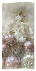 Dreamy Angel Christmas Holiday Shabby Chic Love Print - Holiday Angel Art Romantic Holiday Ornaments Hand Towel