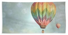 Dreamy Balloon Pair Sky Hand Towel by Andrea Hazel Ihlefeld