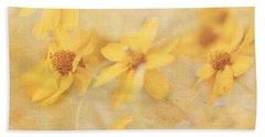 Dreamy Yellow Coreopsis Bath Towel