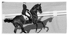 Dressage Une Noir Bath Towel by Alice Gipson