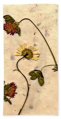 Dried Flowerrs 1 Hand Towel
