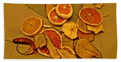Dried Fruit Bath Towel by Brian Chase