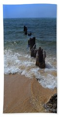 Driftwood And Sea Foam Beach Hand Towel