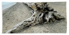 Bath Towel featuring the photograph Driftwood At Lake Erie by Kathy Barney
