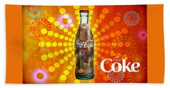 Drink Ice Cold Coke 4 Hand Towel