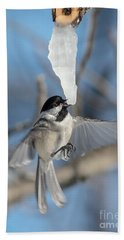 Drinking In Flight Bath Towel by Cheryl Baxter