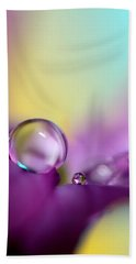 Drops Of Spring Colour Hand Towel