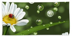 Drops Of Spring Hand Towel