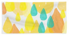 Drops Of Sunshine- Abstract Painting Bath Towel