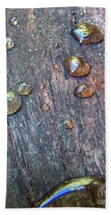 Drops On Wood Hand Towel