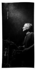 Drummer Portrait Of A Muscian Hand Towel