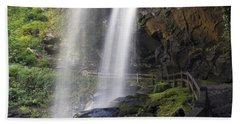 Dry Falls North Carolina Hand Towel by Charles Beeler