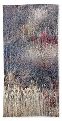 Dry Grasses And Bare Trees Bath Towel