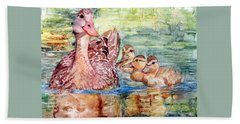 Duck Family Hand Towel