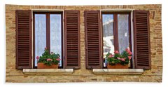 Dueling Windows Of Tuscany Hand Towel