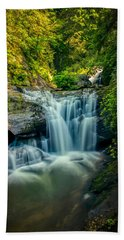Dukes Creek Falls Hand Towel by John Haldane
