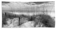 Dune Fences Bath Towel by Debra and Dave Vanderlaan