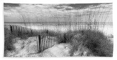 Dune Fences Hand Towel by Debra and Dave Vanderlaan