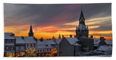 Dunfermline Winter Sunset Hand Towel