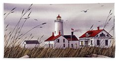 Dungeness Lighthouse Hand Towel by James Williamson