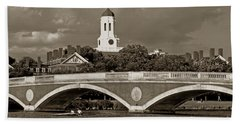 Weeks Bridge Charles River Bw Bath Towel