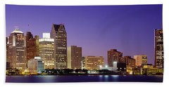 Dusk Detroit, Michigan, Usa Bath Towel