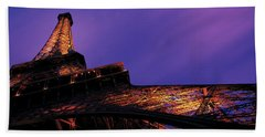 Dusk Eiffel Tower Paris France Bath Towel