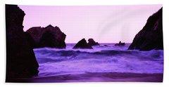 Dusk On The Santa Cruz Coastline Bath Towel