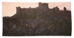 Bath Towel featuring the painting Dusk Over Windsor Castle by Jean Walker