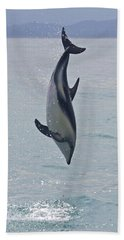 Dusky Dolphin, Kaikoura, New Zealand Hand Towel by Venetia Featherstone-Witty