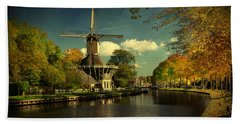 Dutch Windmill Bath Towel