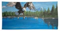 Eagle Attack Bath Towel by Norm Starks