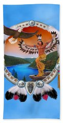 Eagle Dancer Hand Towel by Glenn Holbrook