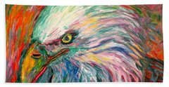 Bath Towel featuring the painting Eagle Fire by Kendall Kessler
