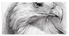 Eagle Portrait Bath Towel
