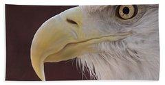 Eagle Portrait Freehand Hand Towel