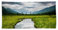 Eagle River Nature Center Bath Towel by Andrew Matwijec