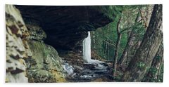 Eaglefalls Trail In Winter Hand Towel