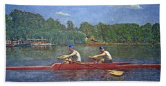 Eakins' The Biglin Brothers Racing Hand Towel by Cora Wandel