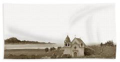Early Carmel Mission And Point Lobos California Circa 1884 Bath Towel by California Views Mr Pat Hathaway Archives