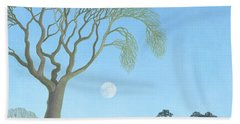 Early Moon, 2007 Oil On Canvas Hand Towel