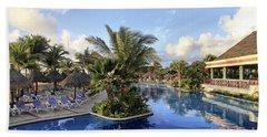 Early Morning At The Pool Hand Towel by Teresa Zieba