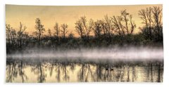 Bath Towel featuring the photograph Early Morning Mist by Lynn Geoffroy