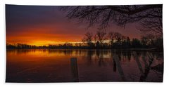 Hand Towel featuring the photograph Early Morning Sunrise by Nicholas  Grunas
