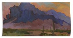 Early Mornng At Superstition Mountain Bath Towel