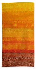 Earth And Sky Original Painting Bath Towel