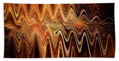 Hand Towel featuring the digital art Earth Frequency by Menega Sabidussi