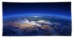 Earth - Mediterranean Countries Hand Towel by Johan Swanepoel